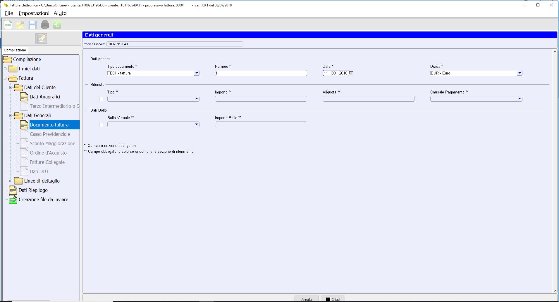 file xml fattura elettronica agenzia entrate
